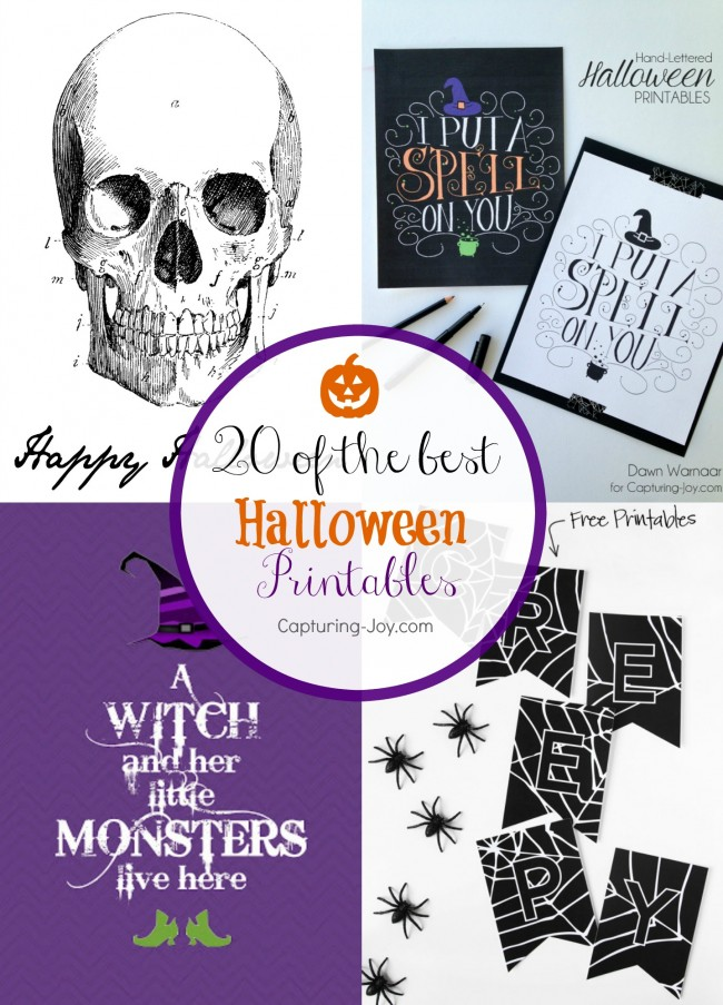 20 of the best halloween printable decorations from around the web capturing joy