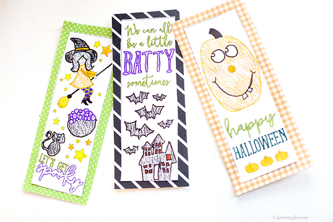 halloween coloring page bookmarks - Halloween Bookmarks To Color