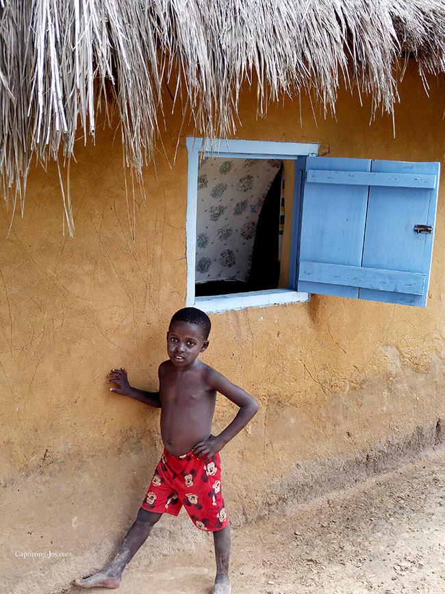 blue window in Ghana