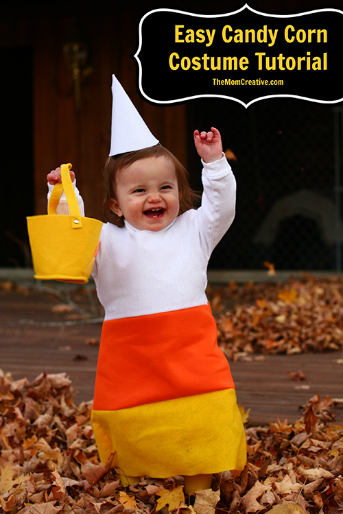easy candy corn costume