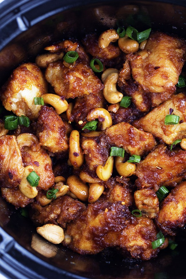 Mix all ingredients together in crockpot then add chicken. Be sure chicken is covered with mixture; 2 hours on High, rest of day on low. Serve over rice.