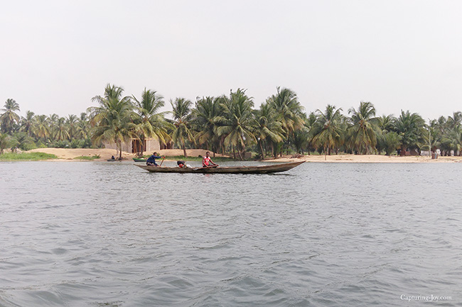 fisherman on Volta River