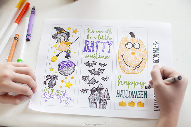 halloween coloring page bookmarks - Halloween Book Marks