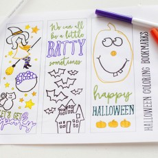 halloween coloring page bookmarks
