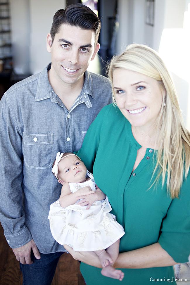 newborn family picture