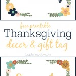 Count Your Blessings Thanksgiving Decor and Gift Tag free printable
