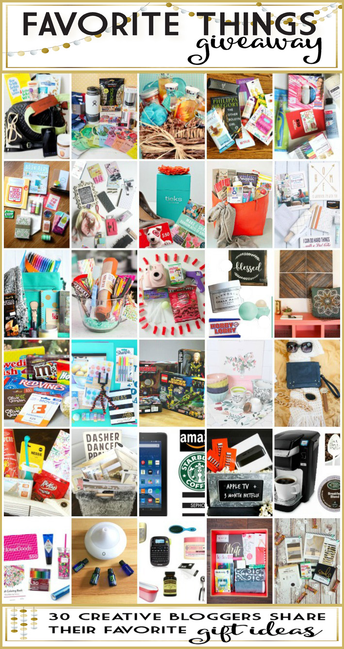 Favorte Things Giveaway and Gift Ideas