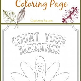 Kids Turkey Thanksgiving Coloring Page Count your Blessings