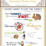 Thanksgiving Activity Memorize a silly Turkey Song