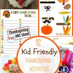 12 Kid Friendly Thanksgiving Activities! See them all on Capturing-Joy.com!