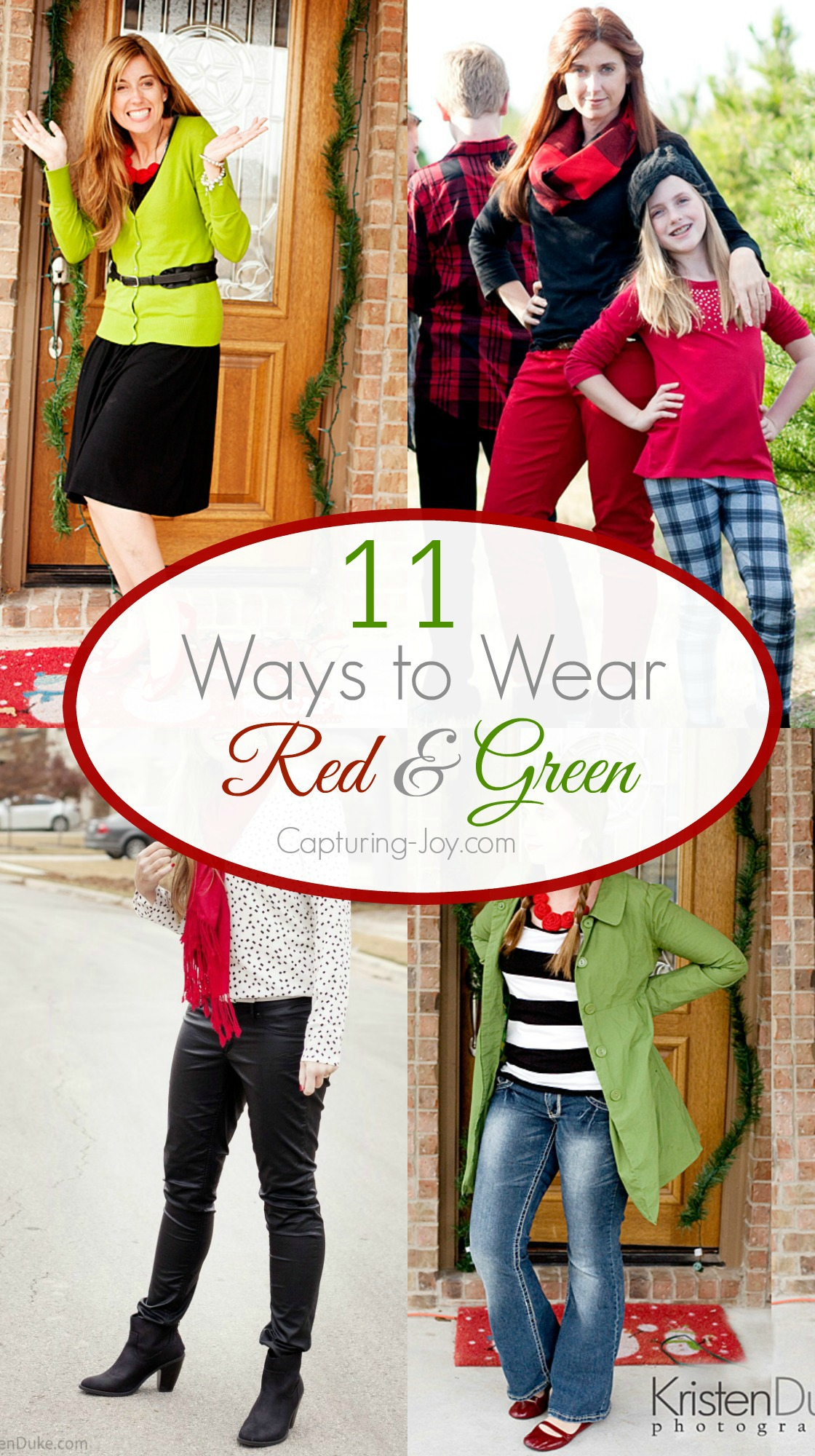 11 Ways to Wear Red and Green to Christmas holiday parties