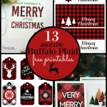 13 adorable buffalo plaid free printables for Christmas holiday wrapping and decoration