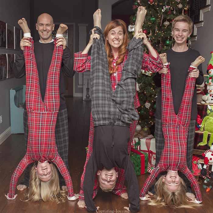 Christmas Jamies Handstands