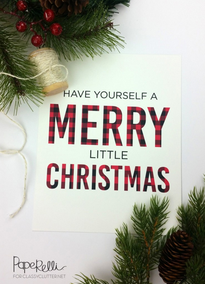 Have Yourself a Merry Little Christmas Buffalo Check Print