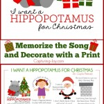 I Want a Hippopotamus for Christmas Print and Song to Memorize