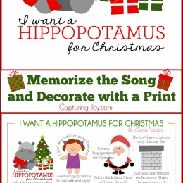 Memorize: I Want a Hippopotamus for Christmas