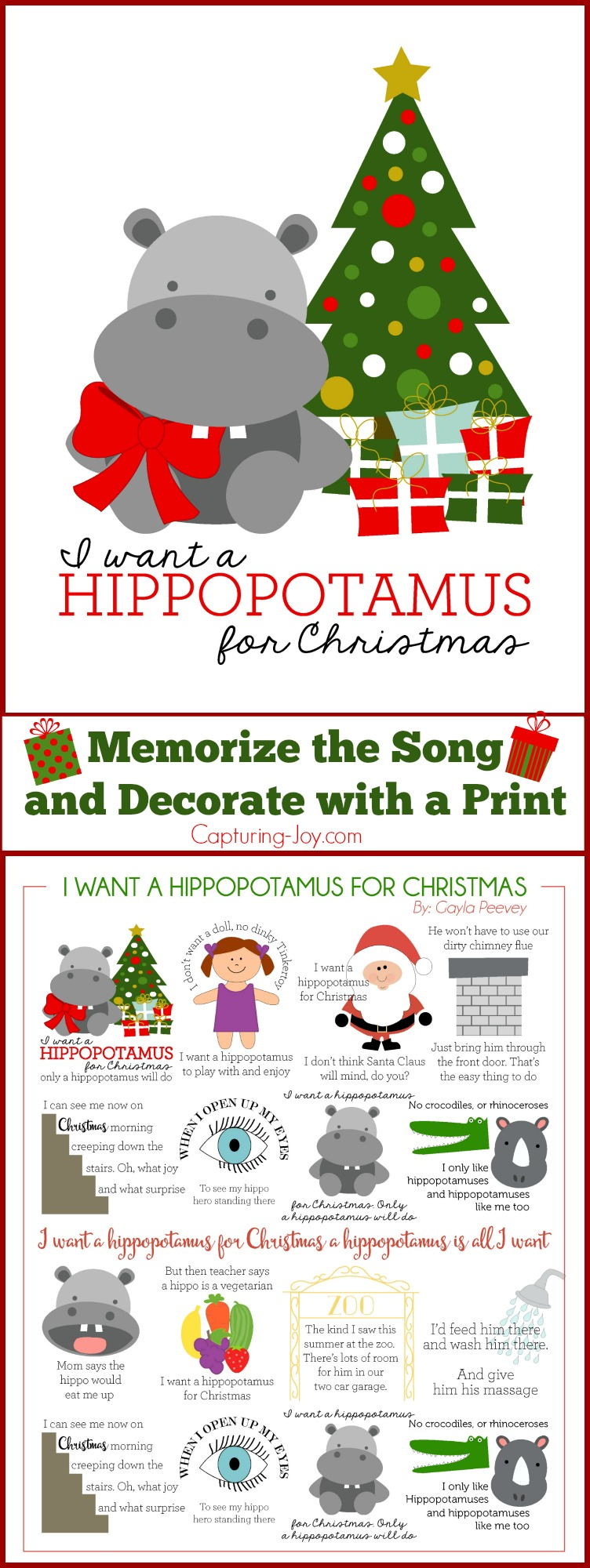 Memorize: I Want a Hippopotamus for Christmas - Capturing Joy with ...