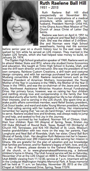 Mom Obituary