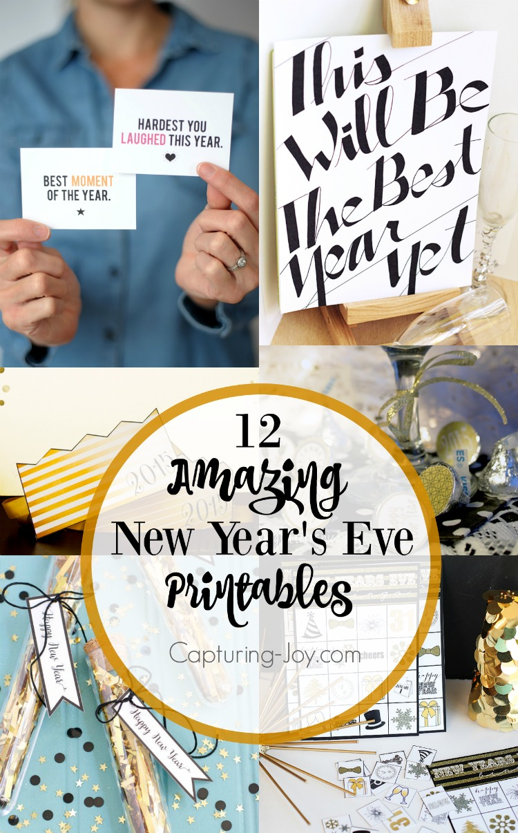 12 New Year\'s Eve Printables - Capturing Joy with Kristen Duke