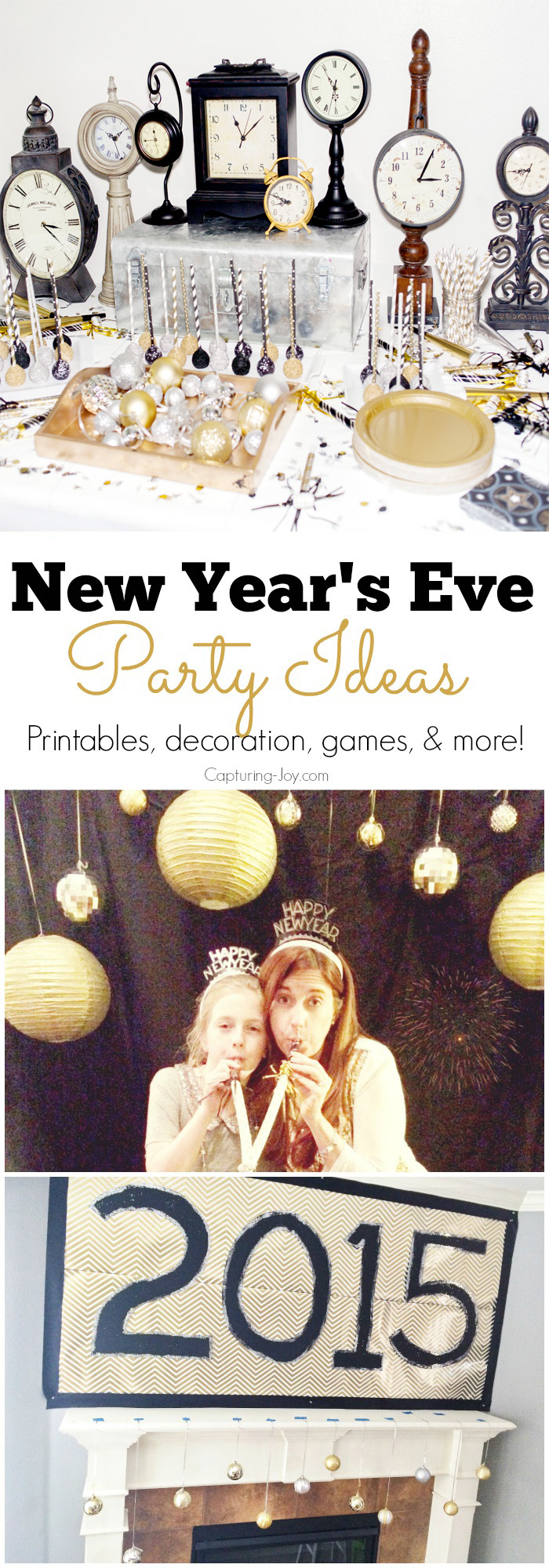 New Years Time Capsule Printable Questionnaire For Kids: New Years Eve Photo Booth Free Printables