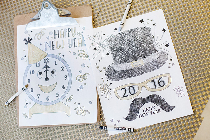 New Years Eve kids coloring pages