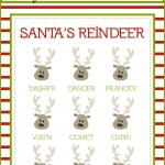 Reindeer Christmas printable decoration