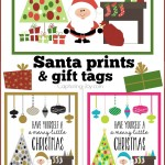 Santa 8x10 print and gift tags for Christmas