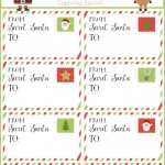 Secret Santa Gift Tags for Christmas