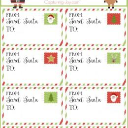 photo regarding Secret Santa Printable known as Mystery Santa Present Tags - Top secret Santa Reward Change Tips