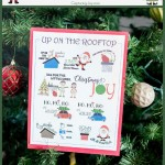 Up on the Rooftop Christmas song decoration and memorize