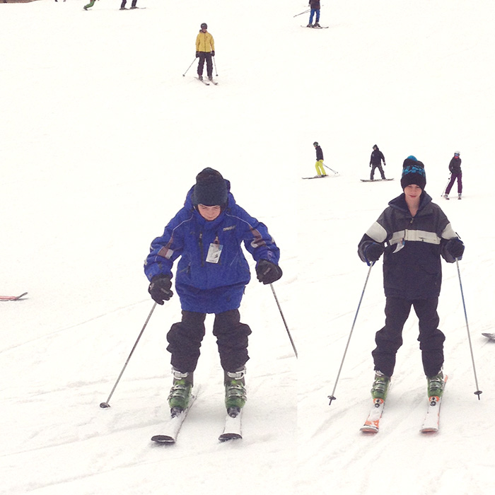 boys skiing