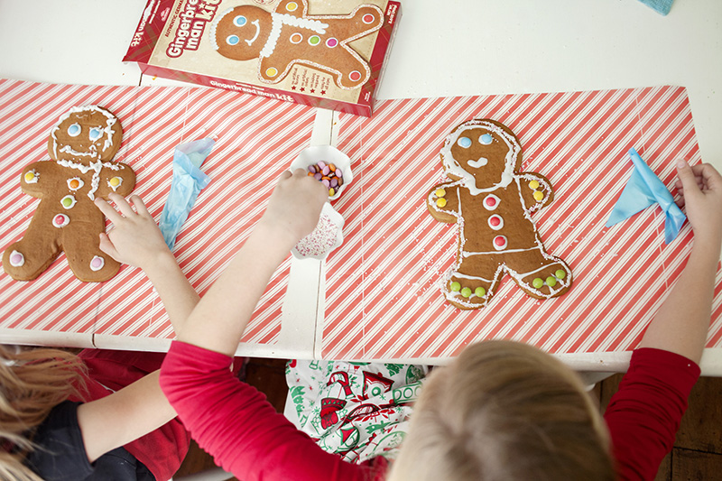 gingerbread man kit activity with kids