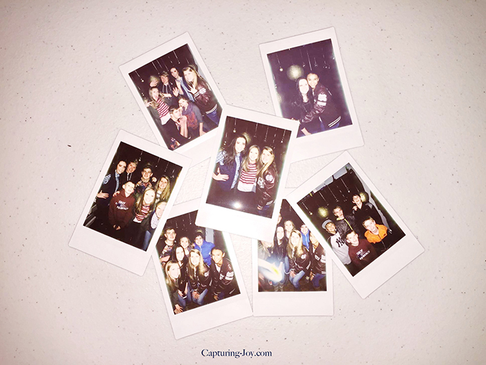 instax instant photos at new years eve party