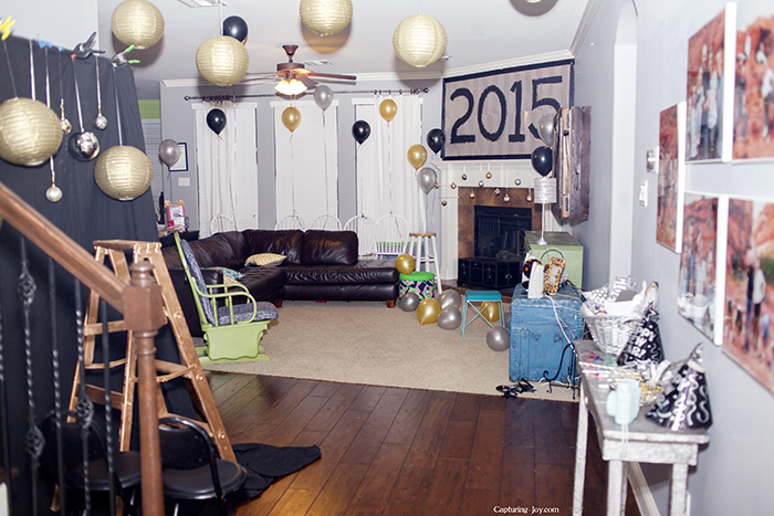 new years eve decorations withballoons