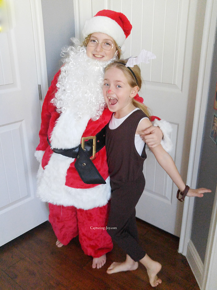 santa and reindeer
