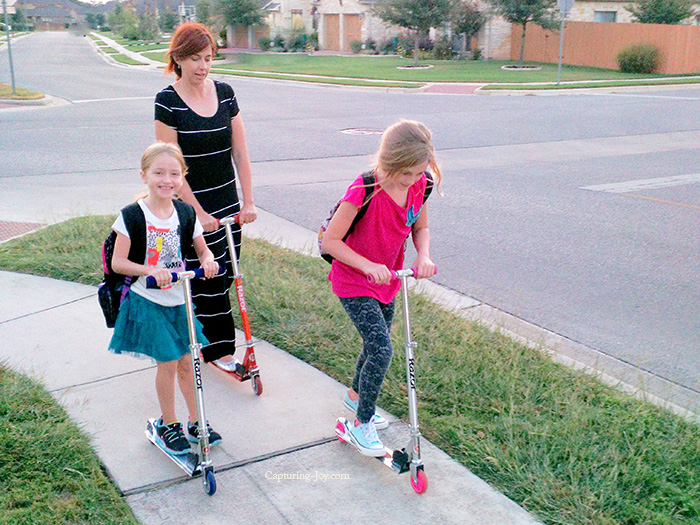scooter to school