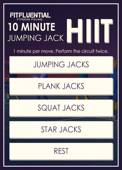 10 minute jumping jack workout