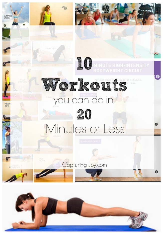10-workouts you can do in 20 minutes or less