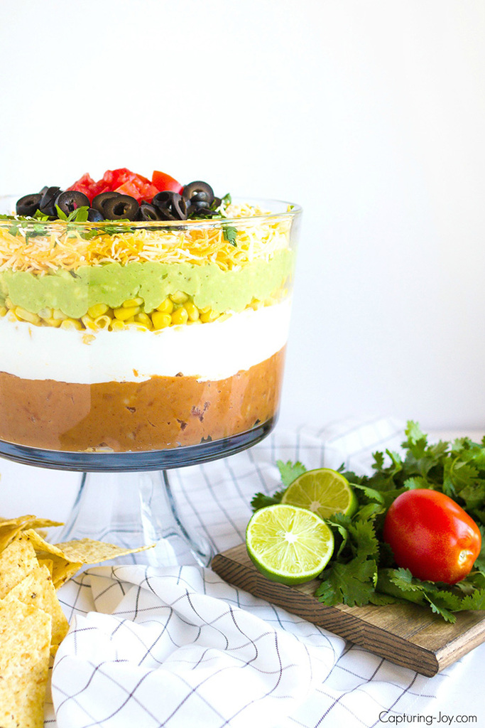 7 layer bean dip appetizer recipe