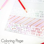 Coloring Page Valentine DIY treat toppers