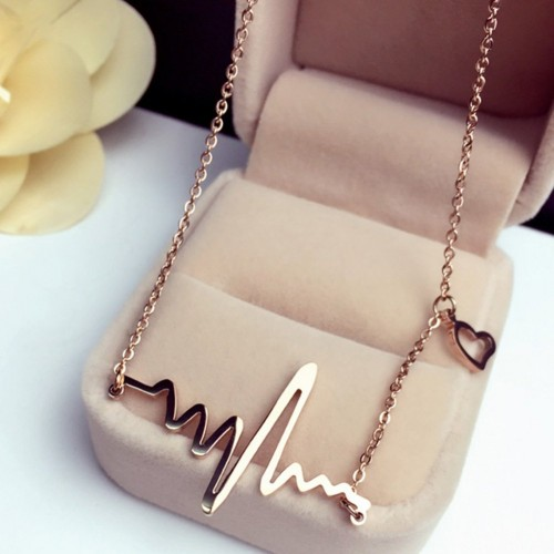 Heart beat necklace gift