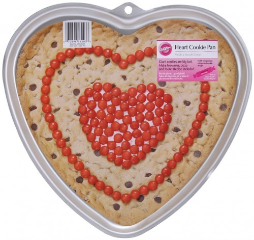 Heart shaped cookie pan perfect for valentines