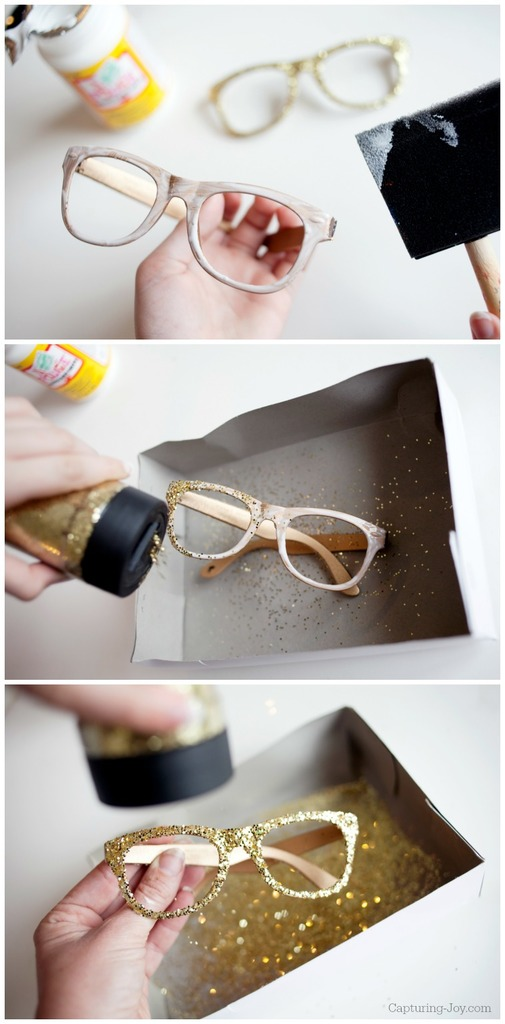 How to make glitter glasses DIY