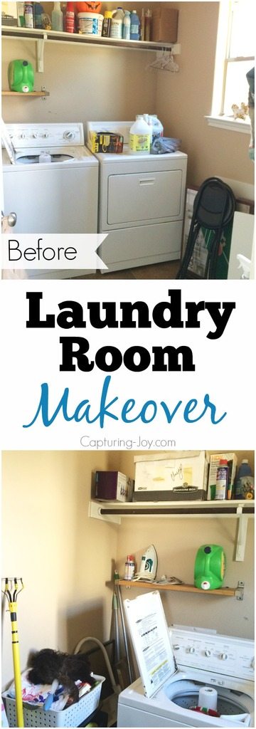 Laundry Room Makeover with DIY laundry room cabinets