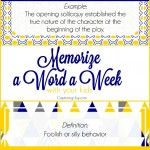 Memorize a Word a Week with your Kids, builds confidence and intelligence and family fun