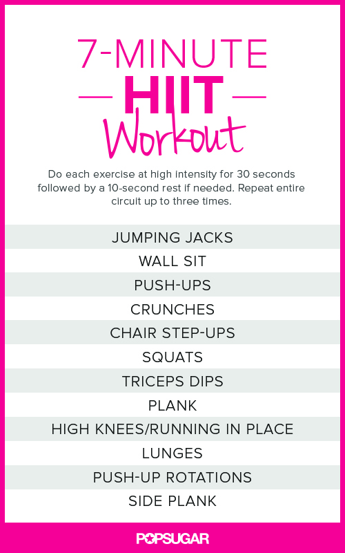 7 minute HIIT workout