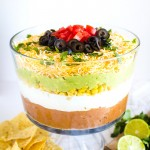 game day 7 layer dip appetizer