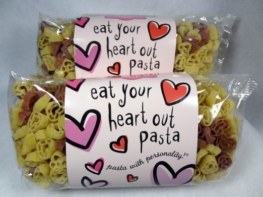 heart pasta for valentines day