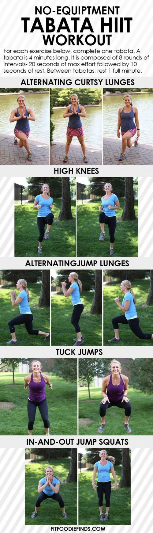 no equipment tabata workout