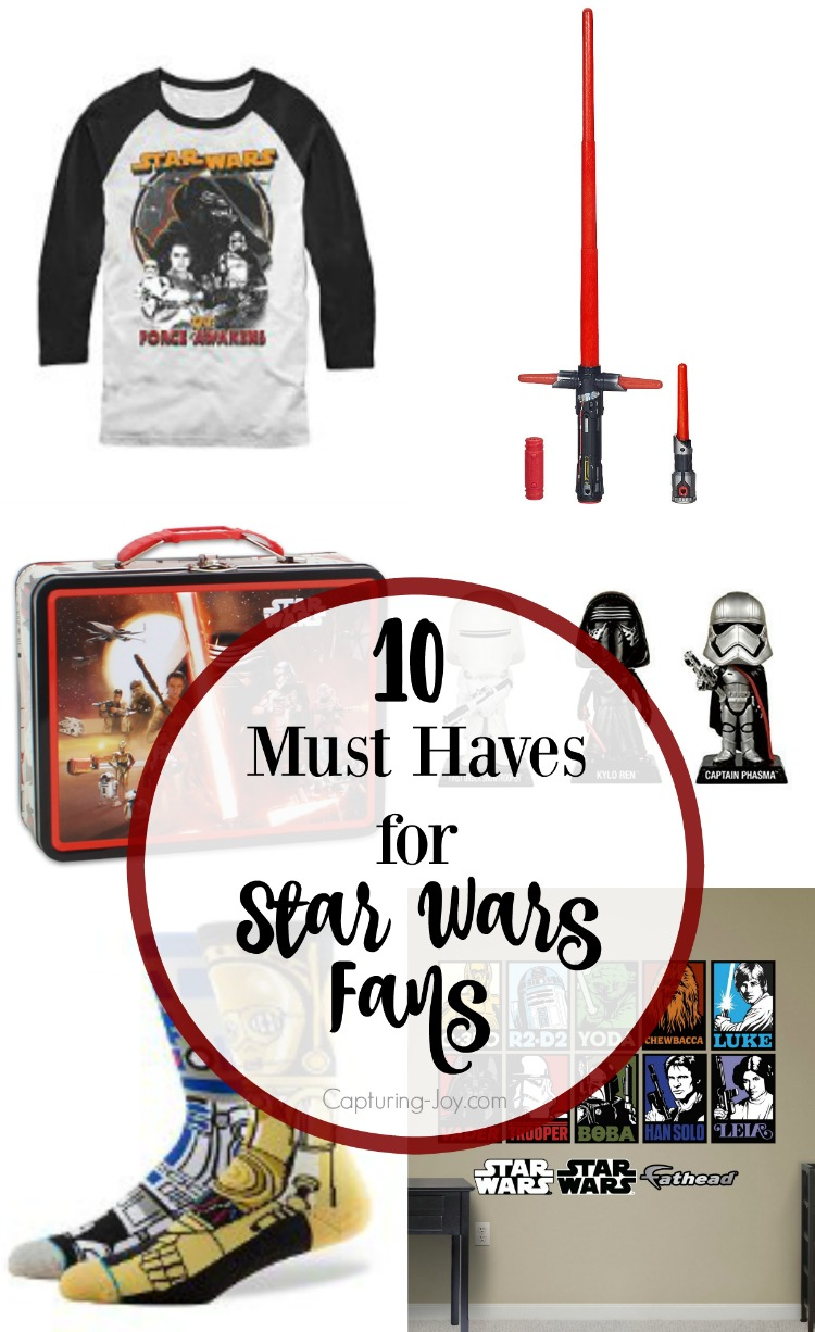 10 MUST HAVES for every Star Wars fan out there! Capturing-Joy.com